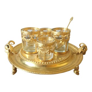 Vintage Italian Centerpiece With Ram's Heads For Sale