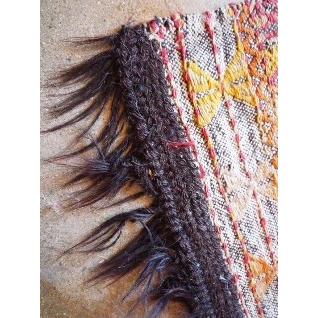"""Kilim Rug With Horse Hair Fringe - 2' 7"""" X 5' - Image 3 of 4"""