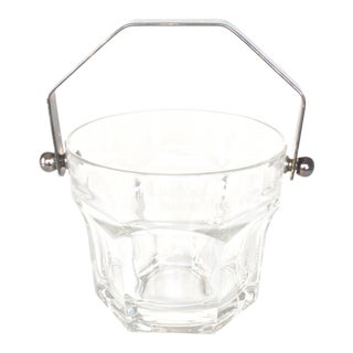 1960s Hollywood Regency Embossed Glass Ice Bucket
