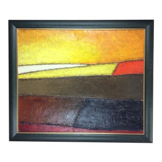 Original 20th Century Abstract Painting by Christian Lagarde Demianoff For Sale
