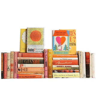 Midcentury Sunrise Dustjacket Books, S/30