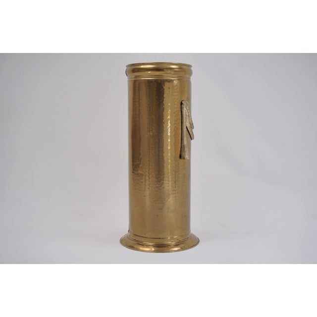 Brass Vintage Brass Umbrella Stand by Peerage For Sale - Image 8 of 12