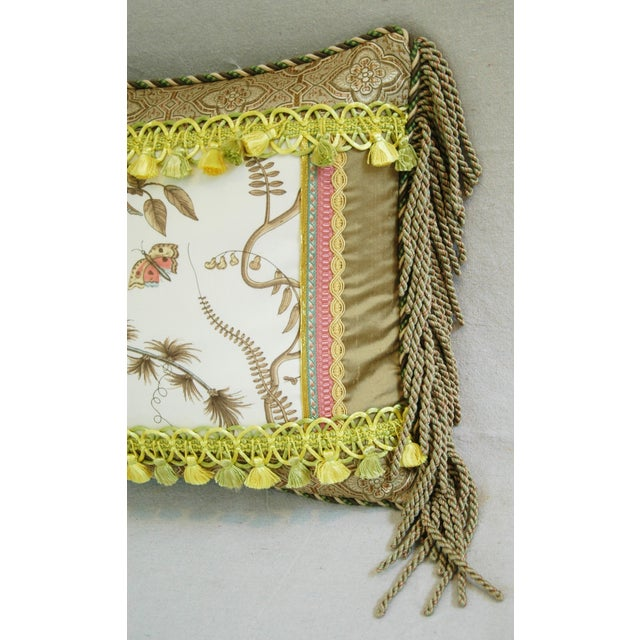Designer Brunschwig & Fils Bird & Thistle Pillow - Image 4 of 6