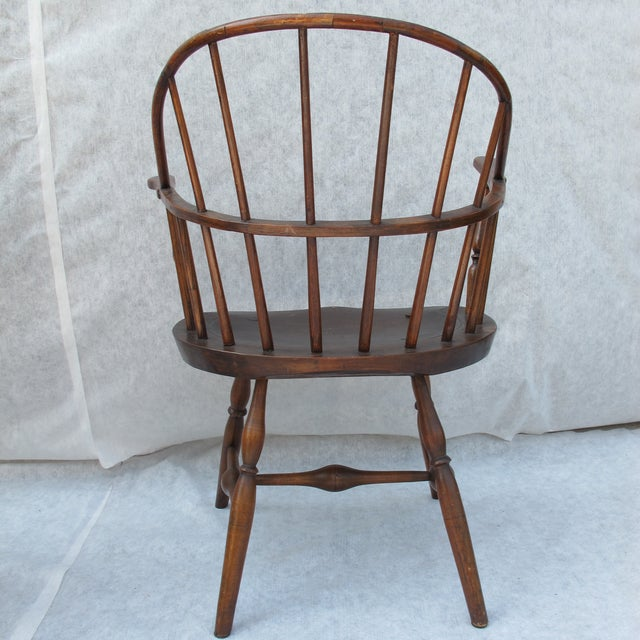New England Bow-Back Windsor Arm Chair - Image 6 of 8