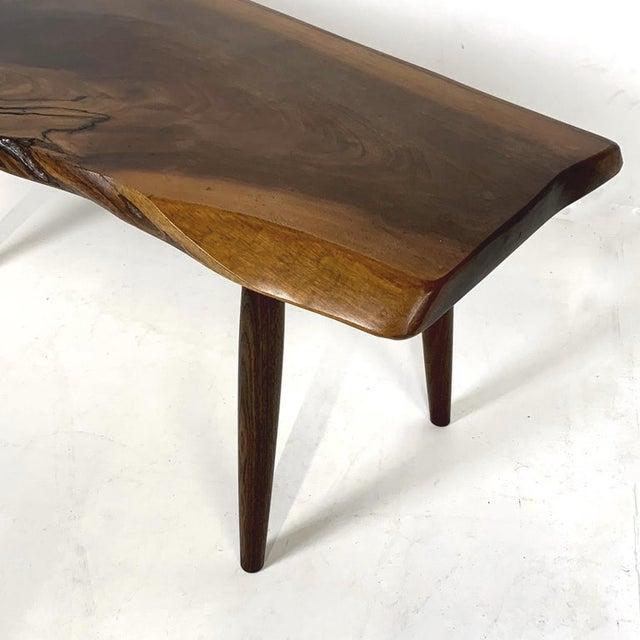 Roy Sheldon Studio Craft Walnut Live Edge Roy Sheldon Tables Signed - Set of 3 For Sale - Image 4 of 13