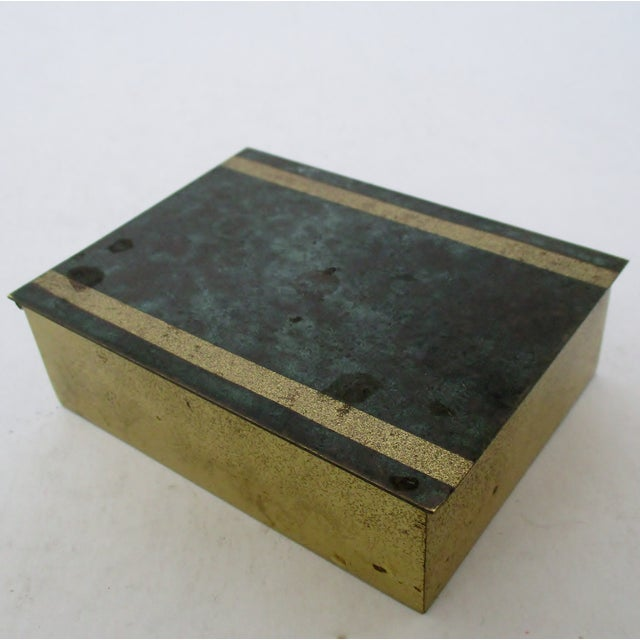 Mid-Century Modern Vintage German Brass Box For Sale - Image 3 of 7