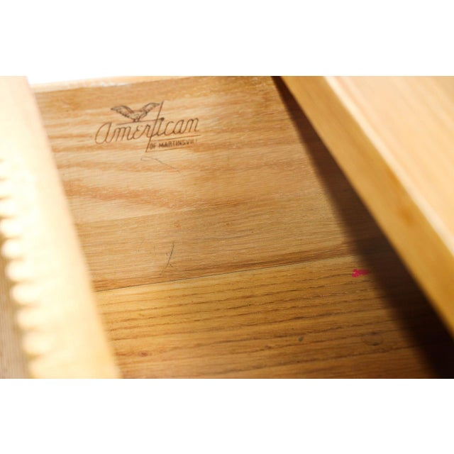 American of Martinsville American Of Martinsville Bamboo Desk For Sale - Image 4 of 11
