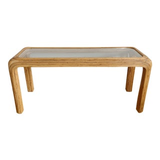 Split Reed Console Table Attr. Gabriella Crespi For Sale