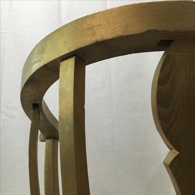 Gold Claw Foot Chair - Image 9 of 9