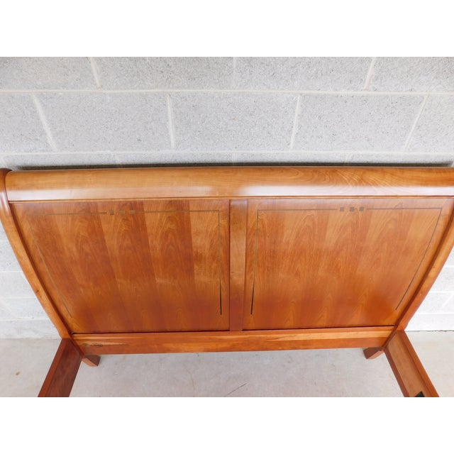 Stickley Cherry Queen Size Sleigh Bed For Sale - Image 9 of 12