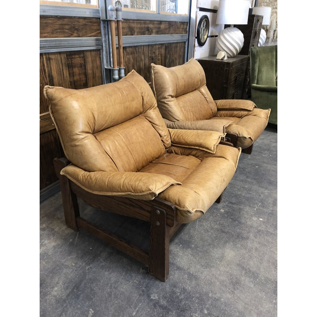 Postmodern 1970's Swedish Lounge Chairs For Sale - Image 3 of 7