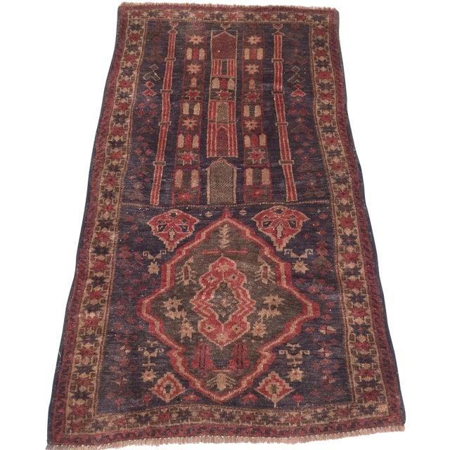"Vintage Handmade Persian Rug - 2'11"" x 5'2"" - Image 1 of 11"