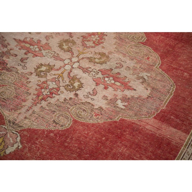 "Vintage Distressed Oushak Rug - 4'8"" X 6'10"" - Image 7 of 8"