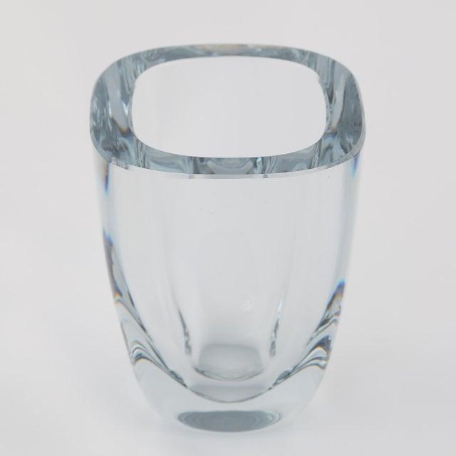Art Deco 1950's VINTAGE STROMBERGSHYTTAN GLASS VASE For Sale - Image 3 of 7