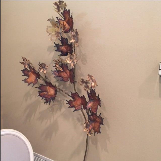 Curtis Jere Bronze Leaf Sculpture - Image 3 of 5