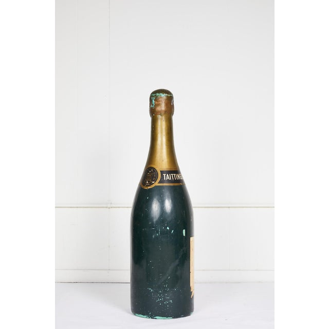 Mid 20th Century Large Vintage French Taittinger Bottle Prop For Sale - Image 5 of 10
