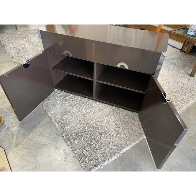 1974s Willy Rizzo Cabinet for Mario Sabot For Sale - Image 4 of 11