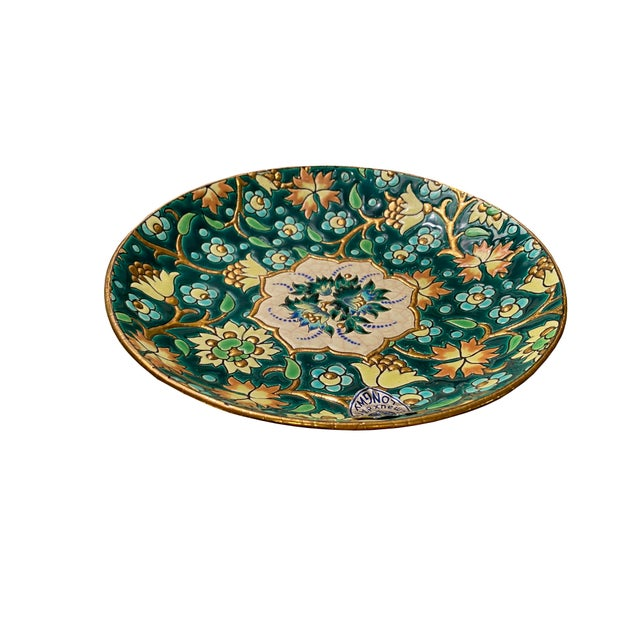 French French De Longwy Small Plate For Sale - Image 3 of 8