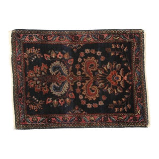 Antique Persian Kashan Accent Rug - 01'11 X 02'07 For Sale