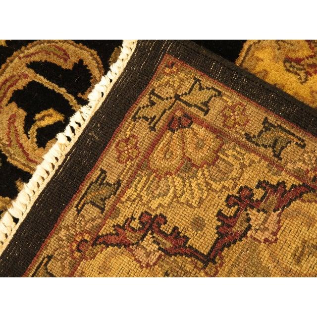 Vintage Black & Gold Wool Rug - 6' X 9' For Sale - Image 10 of 11