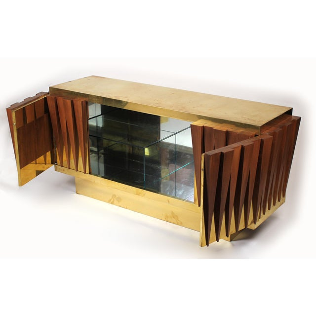 Art Deco 1970s Custom Paolo Buffa Attributed Credenza for Hotel in Italy For Sale - Image 3 of 10