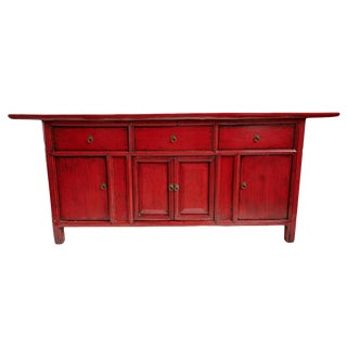Vintage Red Sideboard
