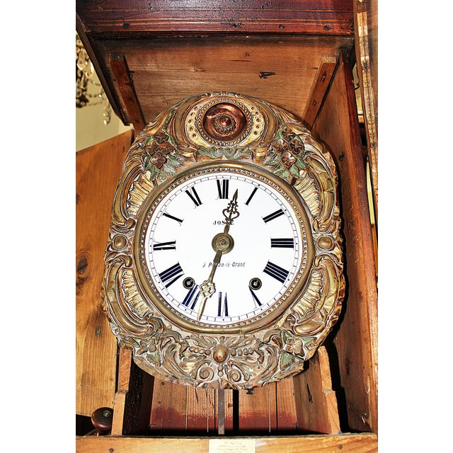 Brass Vintage French Mobier Clock For Sale - Image 7 of 9
