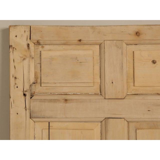 Gold Antique Irish Scrubbed Pine Interior Door For Sale - Image 8 of 10