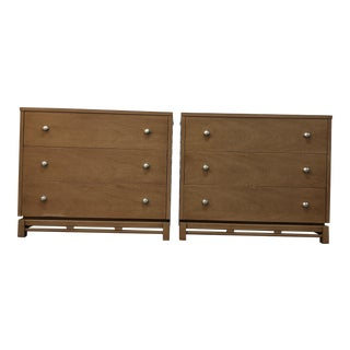 Mid Century Modern Asian Inspired Nightstands-a Pair For Sale