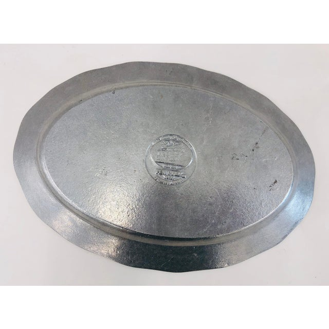 Mid 20th Century Vintage Tennis Themed Pewter Serving Platter For Sale - Image 5 of 6