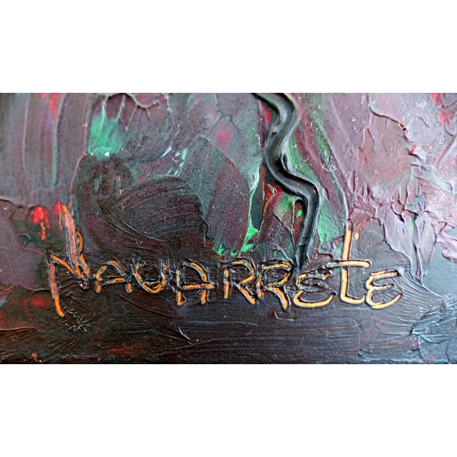 Canvas Contemporary Abstract Oil Painting by Cuban-American Artist Juan A. Navarrete For Sale - Image 7 of 9