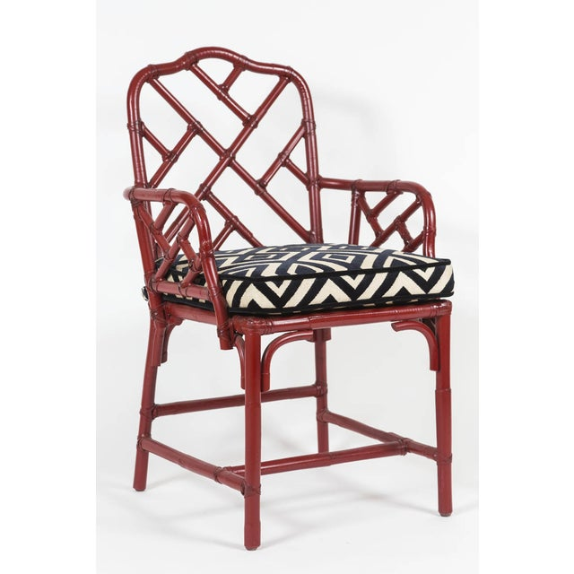 Vintage Bamboo Chinese Chippendale Chairs - A Pair - Image 5 of 9