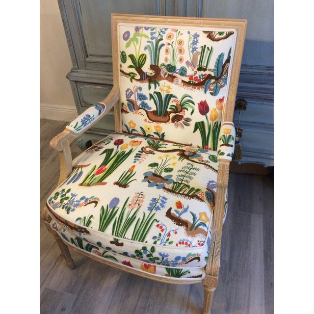 1980s Vintage Swedish/French Bergere Style Chair For Sale - Image 11 of 12