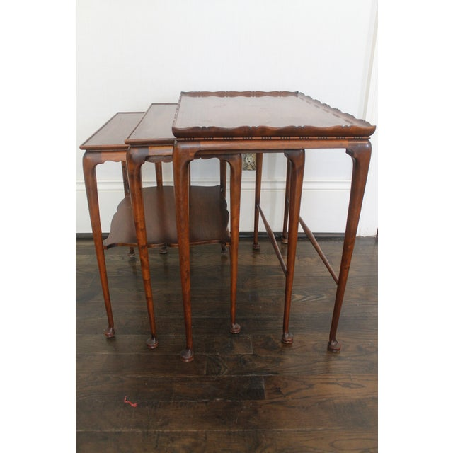 19th Century English Nesting Tables - Set of 3 For Sale - Image 4 of 13
