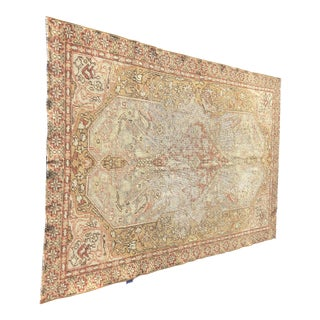 "Antique Distressed Turkish Oushak Rug - 3'11"" x 5'11"""