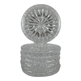Vintage Waterford Lead Crystal Drink Coasters, Set of Six For Sale