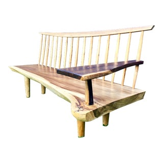 Live Edge Wood Bench For Sale