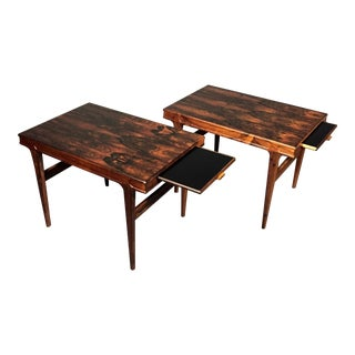 Johannes Andersen Pair Rosewood & Formica End Tables, 1960s For Sale