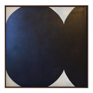Contemporary Minimalist Abstract Monochromatic Acrylic and Gesso Painting by Brooks Burns, Framed For Sale
