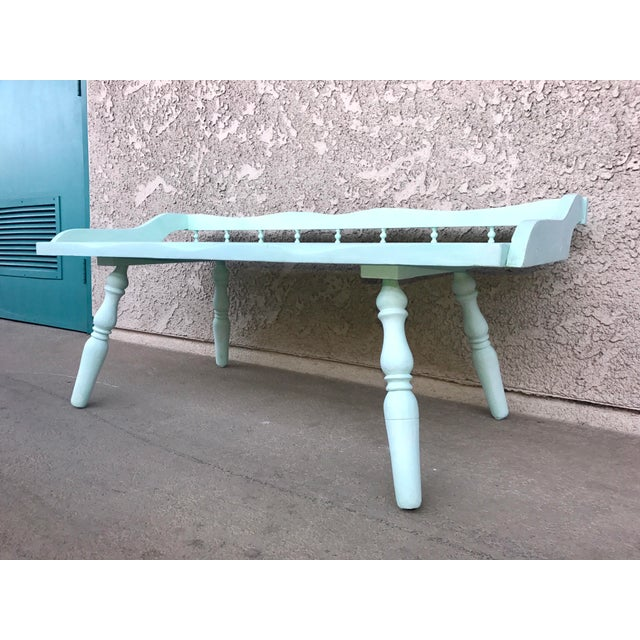 Shabby Chic Painted Farmhouse Style Coffee Table - Image 4 of 10