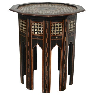 Decagon Mother of Pearl Occasional Table, 1860s For Sale