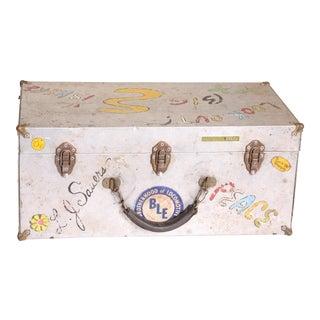 Vintage 1970s Hippie Metal Storage Case