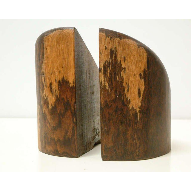 Cocobolo 1960s Don Shoemaker Cocobolo Wood Bookends - a Pair For Sale - Image 7 of 10