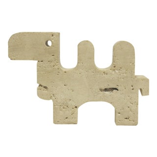 1960's Italian Fratelli Mannelli Travertine Camel