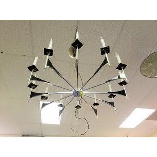 Mid-Century Modern Lightolier (Sciolari or Parzinger) Chandelier Hanging Light Fixture Preview