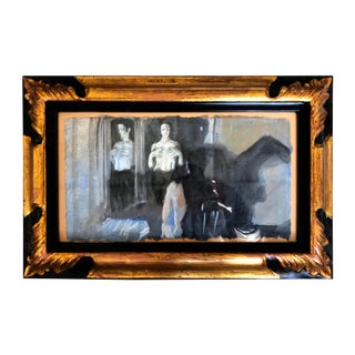 """1994 Ramon Lombarte Original Female Nude """"Enfrente"""" For Sale"""