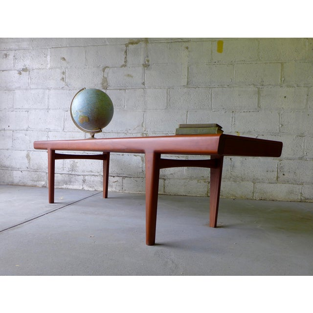 Mid-Century Modern Teak Coffee Table With Cubbies For Sale - Image 5 of 7