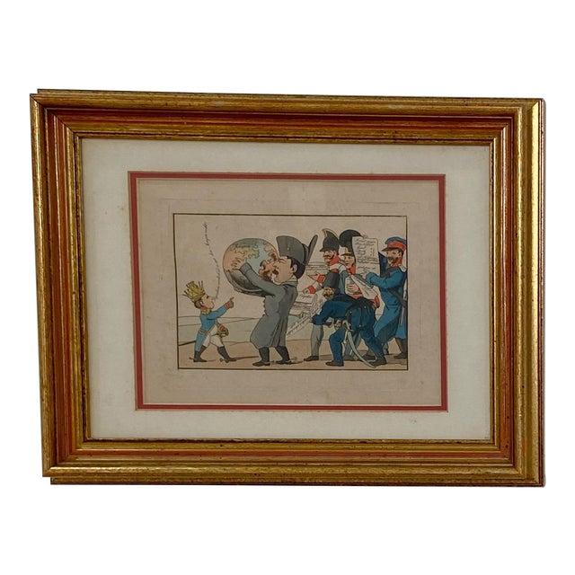1810 Napoleon & the World Political Cartoon, France For Sale