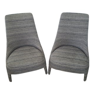 Maxalto by Antonio Citterio Febo High-Back Upholstered Fabric Side Chairs - a Pair For Sale