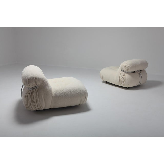 Mid-Century Modern Cassina 'Soriana' Pair of Lounge Chairs by Afra and Tobia Scarpa - 1970s For Sale - Image 3 of 11